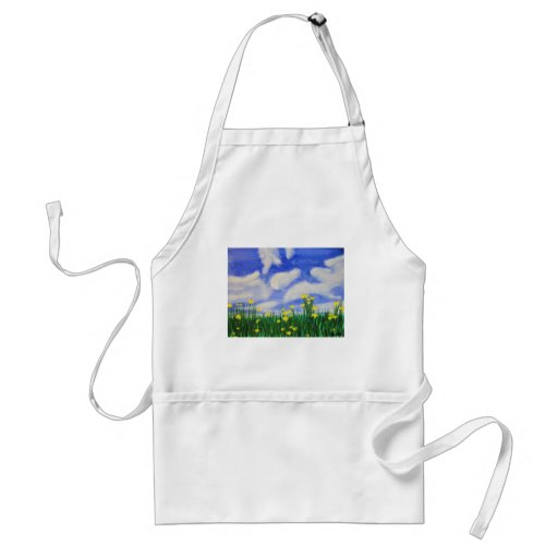Gulf Cove Flowers in a Bright Field Aprons