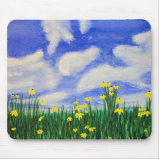 Gulf Cove Flowers in a Bright Field Mouse Pad