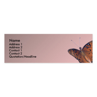 Gulf Fritillary Double-Sided Mini Business Cards (Pack Of 20)