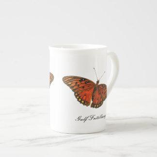 Gulf Fritillary Butterfly China Mug Tea Cup
