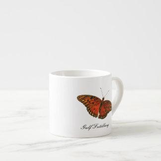 Gulf Fritillary Butterfly Espresso Mug 6 Oz Ceramic Espresso Cup