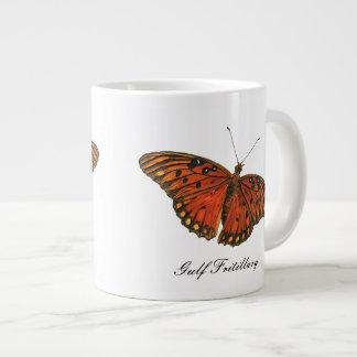 Gulf Fritillary Butterfly Jumbo Mug 20 Oz Large Ceramic Coffee Mug