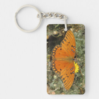 Gulf Fritillary Butterfly Keychain