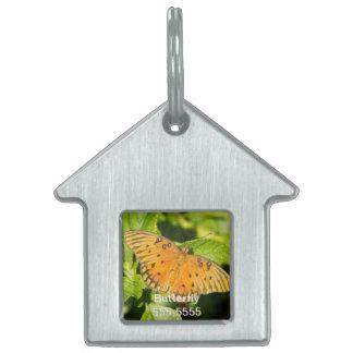 Gulf Fritillary Butterfly Pet Tags