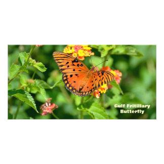 Gulf Fritillary Butterfly Photo Card