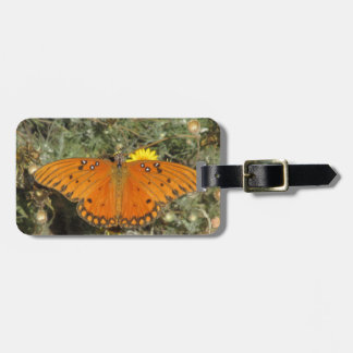 Gulf Fritillary Butterfly Tag For Luggage