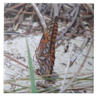 Gulf Fritillary Butterfly Tile