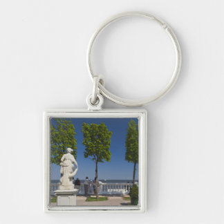 Gulf of Finland from the Monplaisir Villa Silver-Colored Square Keychain