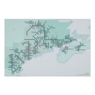 Gulf of Maine 20 x 30 Poster