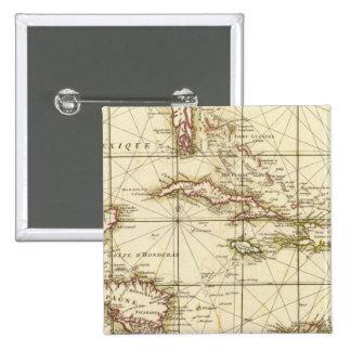 Gulf of Mexico 2 Inch Square Button