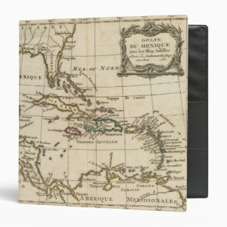 Gulf of Mexico, Caribbean Isles 3 Ring Binder