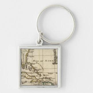 Gulf of Mexico, Caribbean Isles Keychain