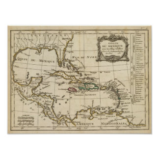 Gulf of Mexico, Caribbean Isles Poster