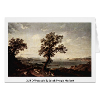 Gulf Of Pozzuoli By Jacob Philipp Hackert Greeting Card
