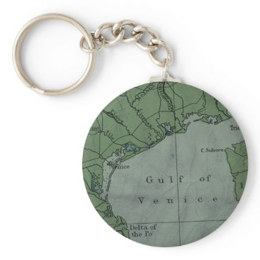Gulf of Venice Antique Style Map Design Keychain