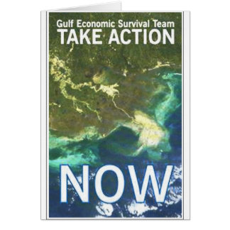gulf oil spill take action card
