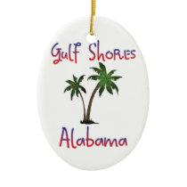 Gulf Shores Alabama Ceramic Ornament