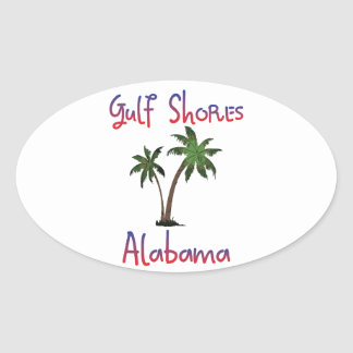 Gulf Shores Alabama Oval Sticker