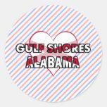 Gulf Shores, Alabama Round Sticker