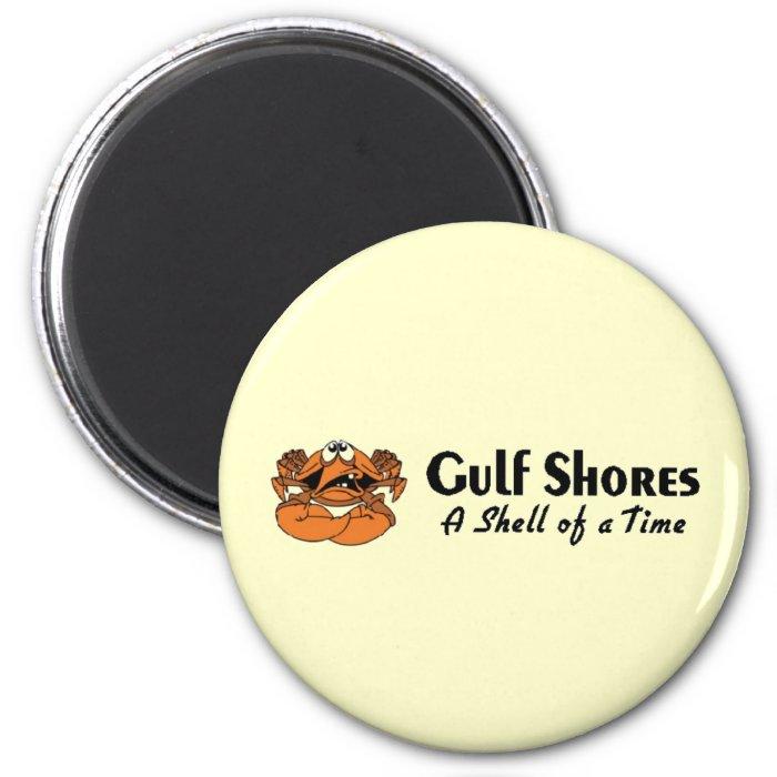 Gulf Shores Crab 2 Inch Round Magnet