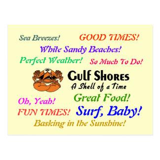 Gulf Shores Crab Postcard