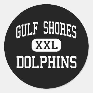 Gulf Shores - Dolphins - High - Gulf Shores Classic Round Sticker