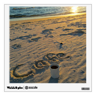 Gulf Shores Sunset Cafe Coffee Beach Wall Decal