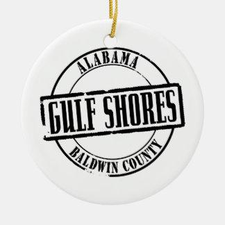 Gulf Shores Title Ceramic Ornament