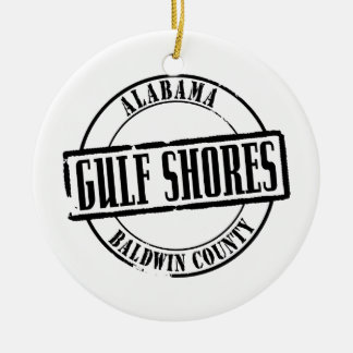 Gulf Shores Title Christmas Tree Ornament