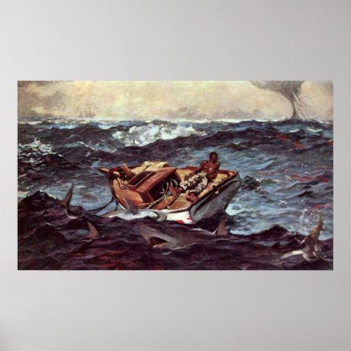 Gulf Stream by Winslow Homer Print