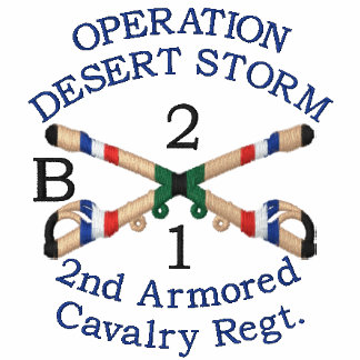 Gulf War Unit Cavalry Crossed Sabers Shirt