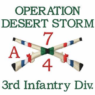 Gulf War Unit Infantry Crossed Rifles Shirt