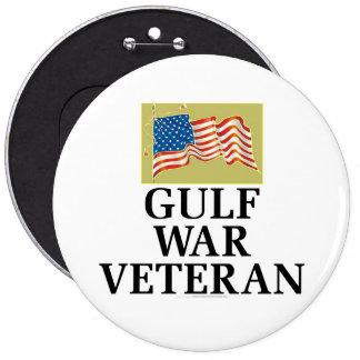 Gulf War Veteran 6 Inch Round Button