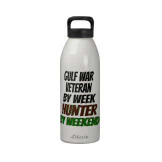 Gulf War Veteran by Week Hunter by Weekend Water Bottles