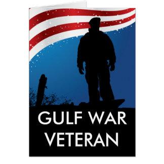 Gulf War Veteran Greeting Card