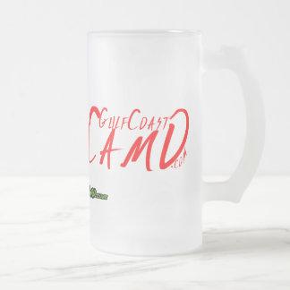 GulfCoast Camo Logo Collection Frosted Glass Beer Mug