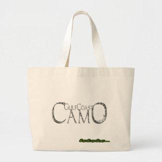 GulfCoast Camo Logo Collection Large Tote Bag