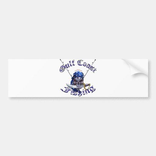 GulfCoast Fishing Pirate Bumper Stickers