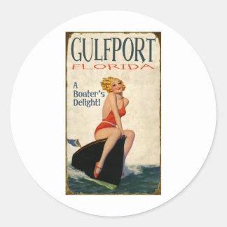 Gulfport la Florida Pegatina Redonda