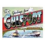 Gulfport Mississippi Large Letter Postcard