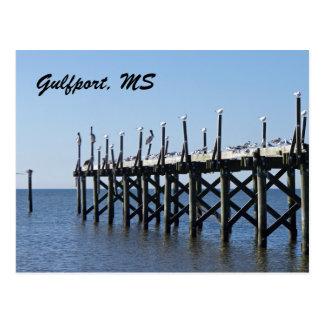 Gulfport Pier Postcard