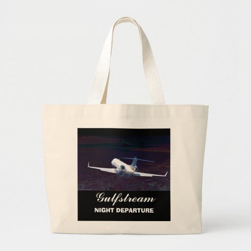 Gulfstream Night Departure, Gulfstream, NIGHT D... Tote Bags
