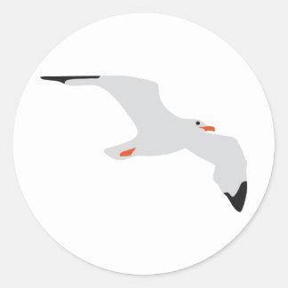 gull classic round sticker