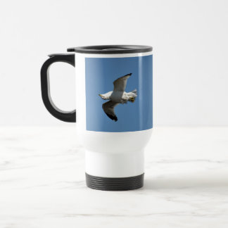 Gull Flying Upside Down Funny Wildlife Photography 15 Oz Stainless Steel Travel Mug