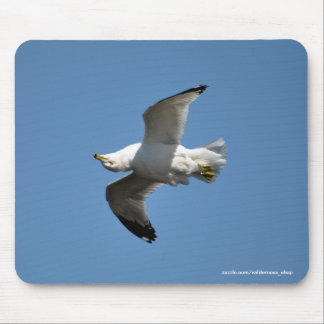 Gull Flying Upside Down Funny Wildlife Photography Mouse Pad