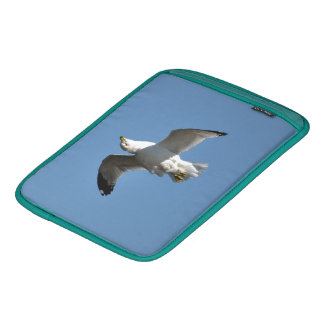 Gull Flying Upside Down Funny Wildlife Photography Sleeve For iPads