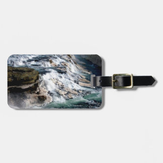 Gull Foss Waterfall Iceland Bag Tag