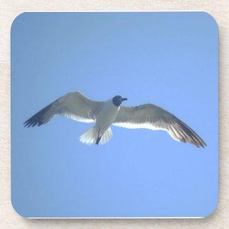 Gull in Flight Cork Coasters