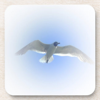 Gull in Flight II Cork Coasters
