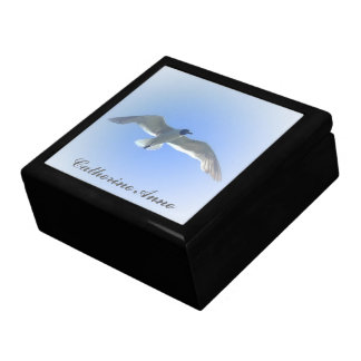Gull in Flight Personalized Jewelry Box